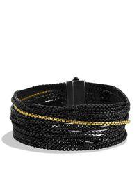 David Yurman Metallic Sixteen-row Chain Bracelet With Gold