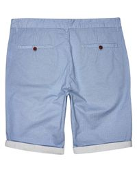 River Island - Light Blue Ditsy Print Chino Shorts for Men - Lyst