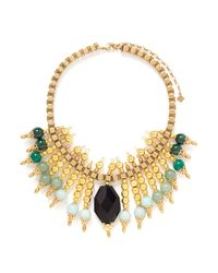 Ela Stone | Metallic Michelle Plastron Necklace | Lyst