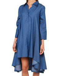 Gracia - Blue Hi-lo Dark Denim Dress - Lyst