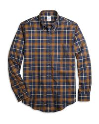Brooks Brothers | Blue Non-iron Madison Fit Blanket Plaid Sport Shirt for Men | Lyst