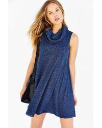 BDG - Blue Cowl-neck Swing Dress - Lyst