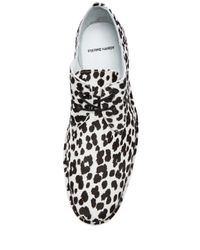 Pierre Hardy - White Mens Hairy Calf Print Derby Shoes - Lyst