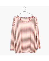 Madewell | Red Striped Chart Tee | Lyst