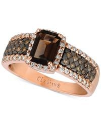 Le Vian | Brown ® Chocolate Quartz (4/5 Ct. T.w.) And Diamond (1/2 Ct. T.w.) Ring In 14k Rose Gold | Lyst