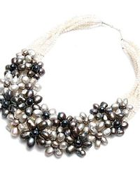 Nakamol | Multicolor Julieta Necklace-silver/grey Pearl | Lyst