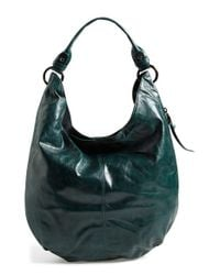 Hobo | Green 'Gardner' Leather Shoulder Bag | Lyst