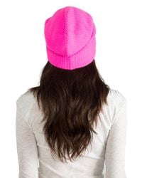 Autumn Cashmere   Ribbed Bag Hat in Pink   Lyst