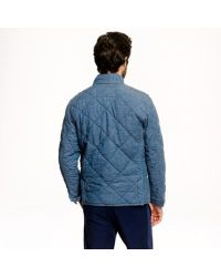 J.Crew - Blue Broadmoor Quilted Jacket In Japanese Chambray for Men - Lyst