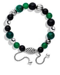 David Yurman Green Spiritual Beads Bracelet