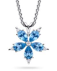 Paul Morelli | White Stellanise Medium Aquamarine & Diamond Pendant Necklace | Lyst