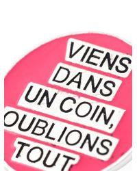 Saint Laurent | Pink 'eighties' Pin | Lyst