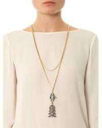 Lulu Frost Metallic Rococo Tassel Necklace