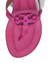 Tory Burch - Pink Miller Sandal, Leather - Lyst