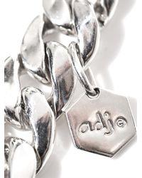 Ann Dexter-Jones - Metallic Sapphire Onyx Silver Id Bracelet - Lyst