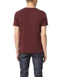 Steven Alan - Red Short Sleeve Jersey Tee for Men - Lyst