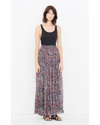 IRO Multicolor Printed Silk Chiffon Maxi Skirt