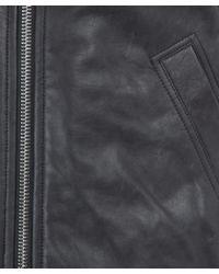 Rick Owens - Gray Dark Grey Lamb Leather Bomber Jacket - Lyst