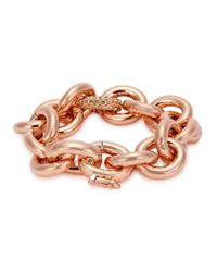 Eddie Borgo | Metallic Rose Gold-plated Link Bracelet | Lyst