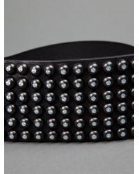 Ronald Pineau Black Studded Belt