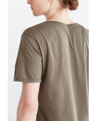 BDG | Green Standard-fit Pigment-dyed Wide Neck Tee for Men | Lyst