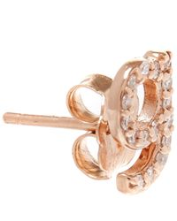 KC Designs - Pink Rose Gold Diamond G Single Stud Earring - Lyst