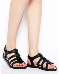 Melissa Flox Black Flat Sandals