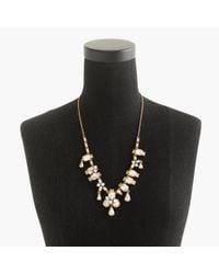 J.Crew | Metallic Long Crystal Necklace | Lyst