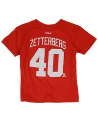88223f8eb Lyst - Reebok Toddlers  Henrik Zetterberg Detroit Red Wings Player T ...