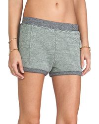 T By Alexander Wang Rainbow French Terry Shorts in Gray