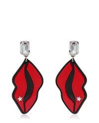 Stella McCartney Multicolor Star & Lips Perspex Earrings