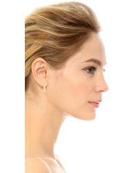 Blanca Monros Gomez Metallic Thick Hoop Earrings
