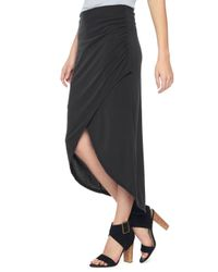 Splendid Black Sandwash Jersey Skirt