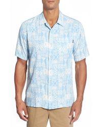 Jack O'neill Blue 'kuta' Regular Fit Geo Print Camp Shirt for men