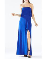 BCBGMAXAZRIA | Blue Felicity Strapless Gown | Lyst