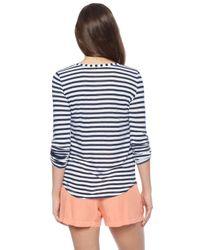 Splendid - Blue Monterosso Stripe Top - Lyst