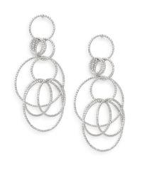 Saks Fifth Avenue | Metallic Multi-ring Drop Earrings/silvertone | Lyst