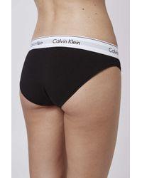 TOPSHOP | Black Modern Cotton Bikini Briefs By Calvin Klein | Lyst