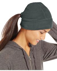 Style & Co. | Black Style&co. Fleece Hat With Ponytail Loop | Lyst