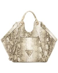 Guess | Natural Off Beat Large Satchel | Lyst