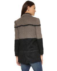 Rebecca Minkoff - Graffiti Jacket - Grey/black - Lyst