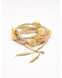 Free People - Yellow Floral Braid Ins - Lyst