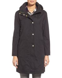 Ellen Tracy   Black A-line Raincoat With Detachable Hood   Lyst