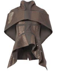 Rick Owens - Gray Embellished Wool-Blend Jacket  - Lyst
