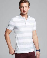 Lacoste Gray Short Sleeve Piqué Polo - Slim Fit for men