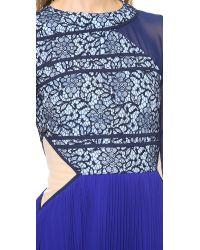 Three Floor Blue Desire Dress - Navy/cornflower/cobalt/nude