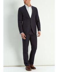 Jaeger Black Silk Linen Modern Suit Jacket for men