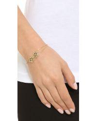 KENZO - Metallic Tassel Tiger Bracelet - Gold - Lyst