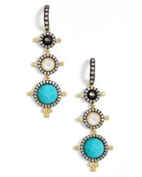 Freida Rothman | Blue 'metropolitan' Linear Earrings | Lyst