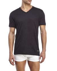 Lucky Brand | Multicolor Black Label 3-Pack V-Neck Tees for Men | Lyst